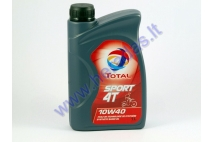 Motor oil for motorcycle TOTAL SPORT 4T 10W40 1 litre