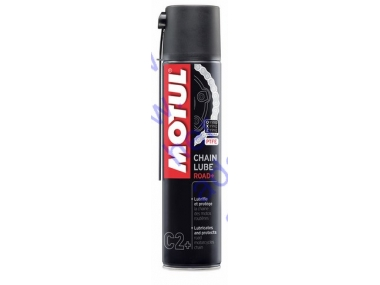 Grandinių tepalas MOTUL CHAIN LUBE ROAD+ 400ml