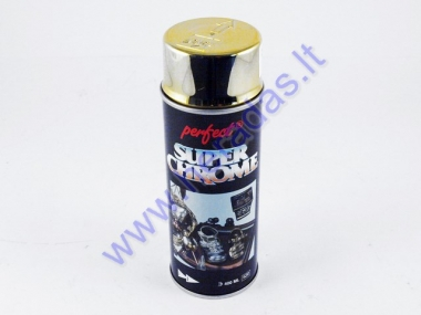 Spray paint PERFECT SUPER CHROME GOLD 400ml
