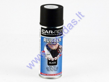 Rubber coating spray (rubber comp) black matte 400ml