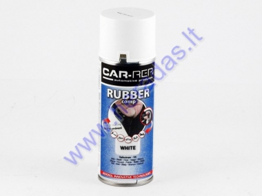 Rubber coating spray (rubber comp) white partial gloss 400ml