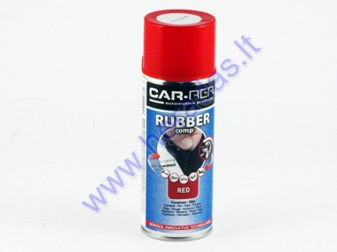 Rubber coating spray (rubber comp) red partial gloss 400ml