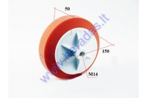 Polishing sponge flat orange with thread M14 D150