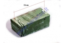 Green polishing paste bar for metals