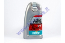 Motor oil for 2-stroke motorcycle engines MOTOREX CROSS POWER 1 litre