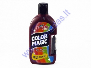Color Magic Turtle WAX polish ​​dark red color