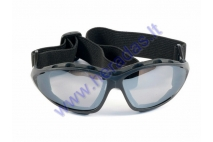 Motorcycle goggles black lens