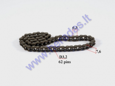 Starter chain for ATV quad bike
