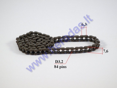Timing chain for ATV quad bike 84 links
