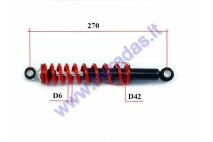 Shock absorber for ATV quad bike L270 spring diameter 6
