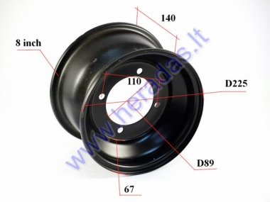 Front rim 8 inch (8″) for ATV quad bike