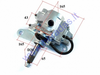 Outer transmission gearbox reducer for 200-300cc quad bike