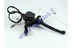 Brake lever with thumb throttle with mount for quad bike