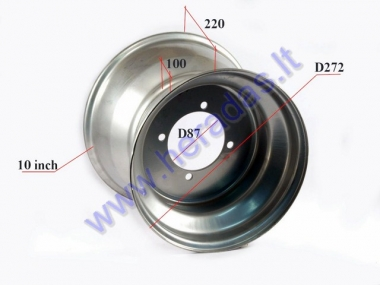 Rear rim 10 inch (10″) for ATV quad bike