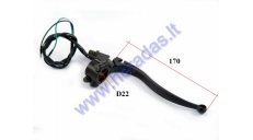 Universal brake lever with switch for motorcycle