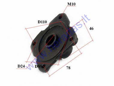 Rear wheel hub for ATV quad bike D24