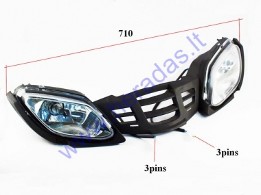 Head light mount (cover) with grills for quad bike EGL II