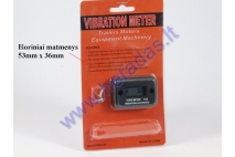Vehicle service hour vibrational meter
