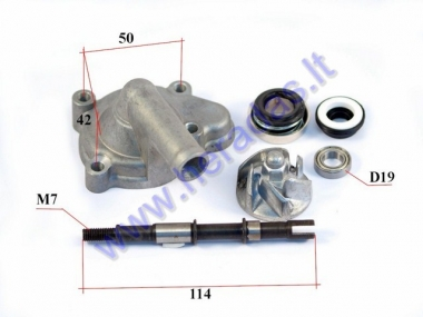 Water pump for quad bike