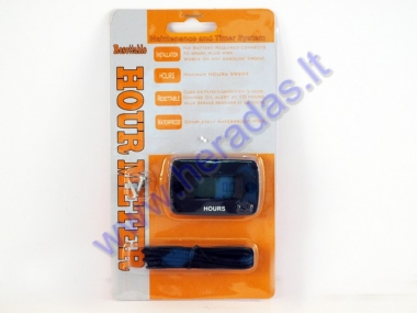 Vehicle service hour meter with resettable service life tracking SY-N40