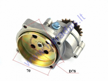 Transmission gearbox reducer for 50cc quad bike with drum