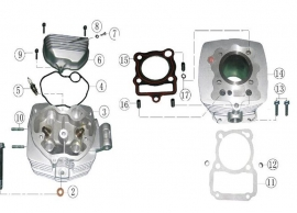 ATV engine engine head diagram. CG type