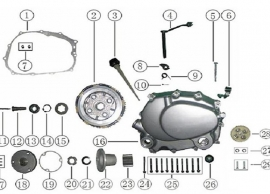 ATV engine left side  diagram.