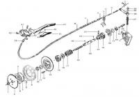 Motorized bicycle clutch