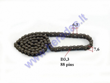 Timing chain for quad bike 88 links