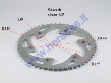 Motorcycle rear sprocket 54 teeth