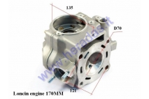 Cylinder head for ATV quad bike 250cc water-cooled