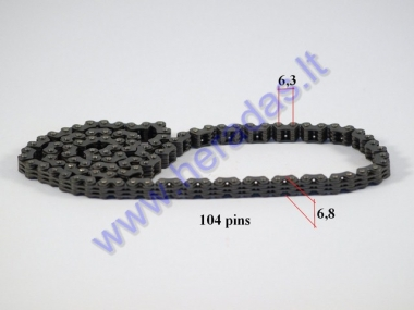 Timing chain for motorcycle 104 links