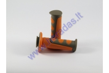 Rubber handlebar grip set for motorcycle