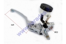 Brake lever with master cylinder for motorcycle