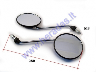 Mirror 2pc set for scooter