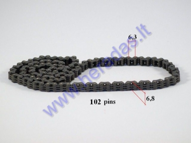 Timing chain for motorcycle 102 links