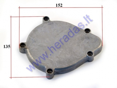 Engine cover cap for motorized bicycle
