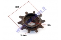 Engine sprocket for motorized bicycle 10 teeth