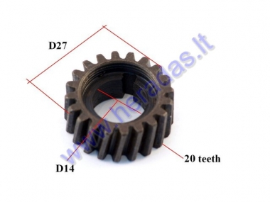 Engine gear for motorized bicycle