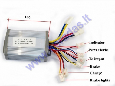 Controller for electric quad bike 36V 800W