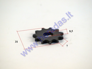 Front sprocket for electric engine quad bike 11 teeth outer d31