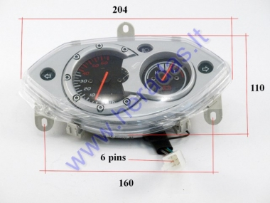 Dashboard with speedometer for electric trike scooter MS01 MS03
