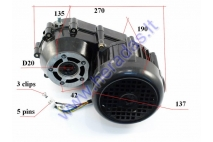 Electric trike scooter engine with transmission gearbox 48V 500W MS01 MS03