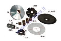 Variator kit for 50cc scooter GY6