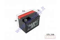 Motorcycle battery 12V 3Ah YTX4L-BS