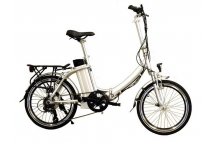 Folding electric bicycle ELECTRON EB18. Aluminium frame, lithium-ion batteries.