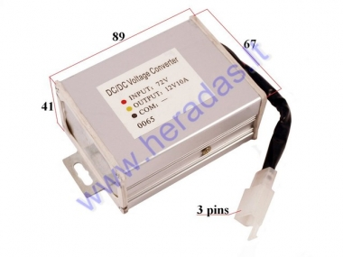 Voltage converter for electric scooter 72V/12V