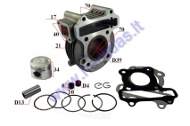 Cylinder piston set for 4-stroke scooter D39 50cc GY6