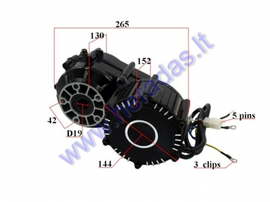 Electric trike scooter engine with transmission gearbox 48V 500W ST96