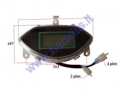 Dashboard with speedometer for electric trike scooter MS03 ST96